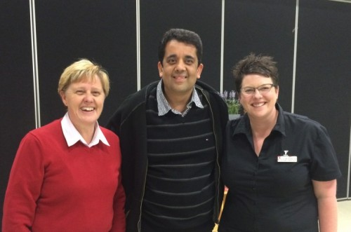 CEO of Neighbourhood Watch, Gill Metz, Barry Palta, and Derrimut Community Centre Manager, Patrice Belcher