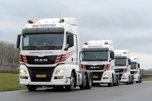 Vier nieuwe MAN trucks voor MBH Transport
