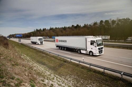 Platooning: DB Schenker en MAN intensiveren samenwerking voor autonoom rijden