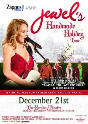 Jewel's Handmade Holiday Tour Stops at Hershey Theatre