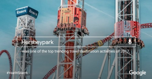 Hersheypark One of Google's Top Searched Travel Destinations