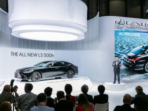 Lexus press conference at 2017 Geneva Motor Show