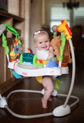 Childrens Baby Bouncer Activity Walker Infant Exercise Support Jumper w Toys New