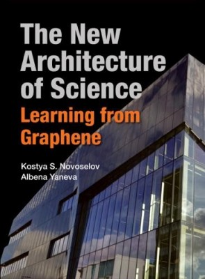 Book cover of 'The New Architecture of Science' showing the Graphene Institute in Manchester
