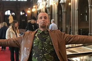 Chris at the John Rylands Library - copyright Lois Blackburn