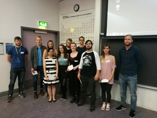 Chemistry PGR conference oral presentation winners