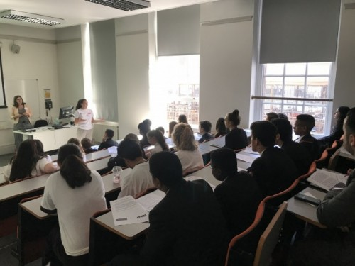 A group of students in a HCRI class