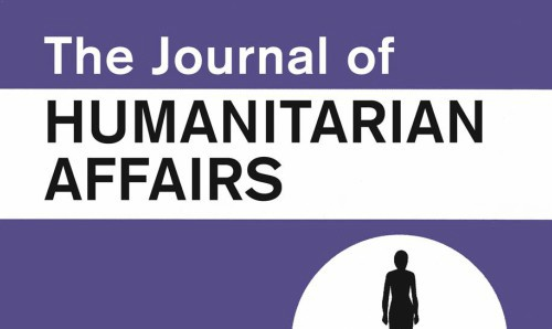 The Journal of Humanitarian Affairs.