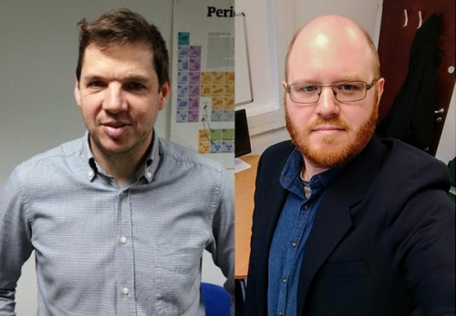 Professor Rob Dryfe and Dr Mark Bissett from The University of Manchester