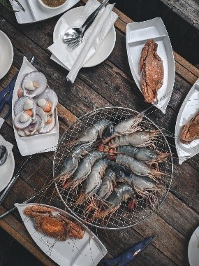plates of seafood
