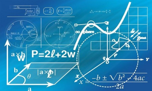 Mathematical formulae and drawings on a blue background