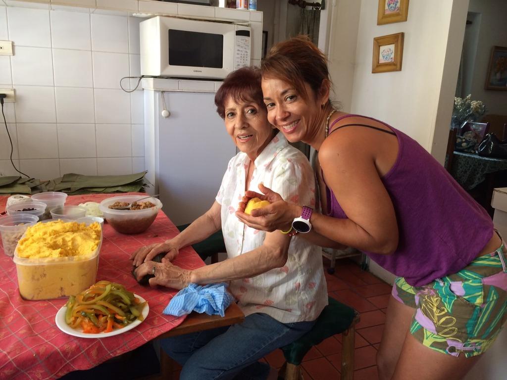 Alejandra Schrader and her abuela
