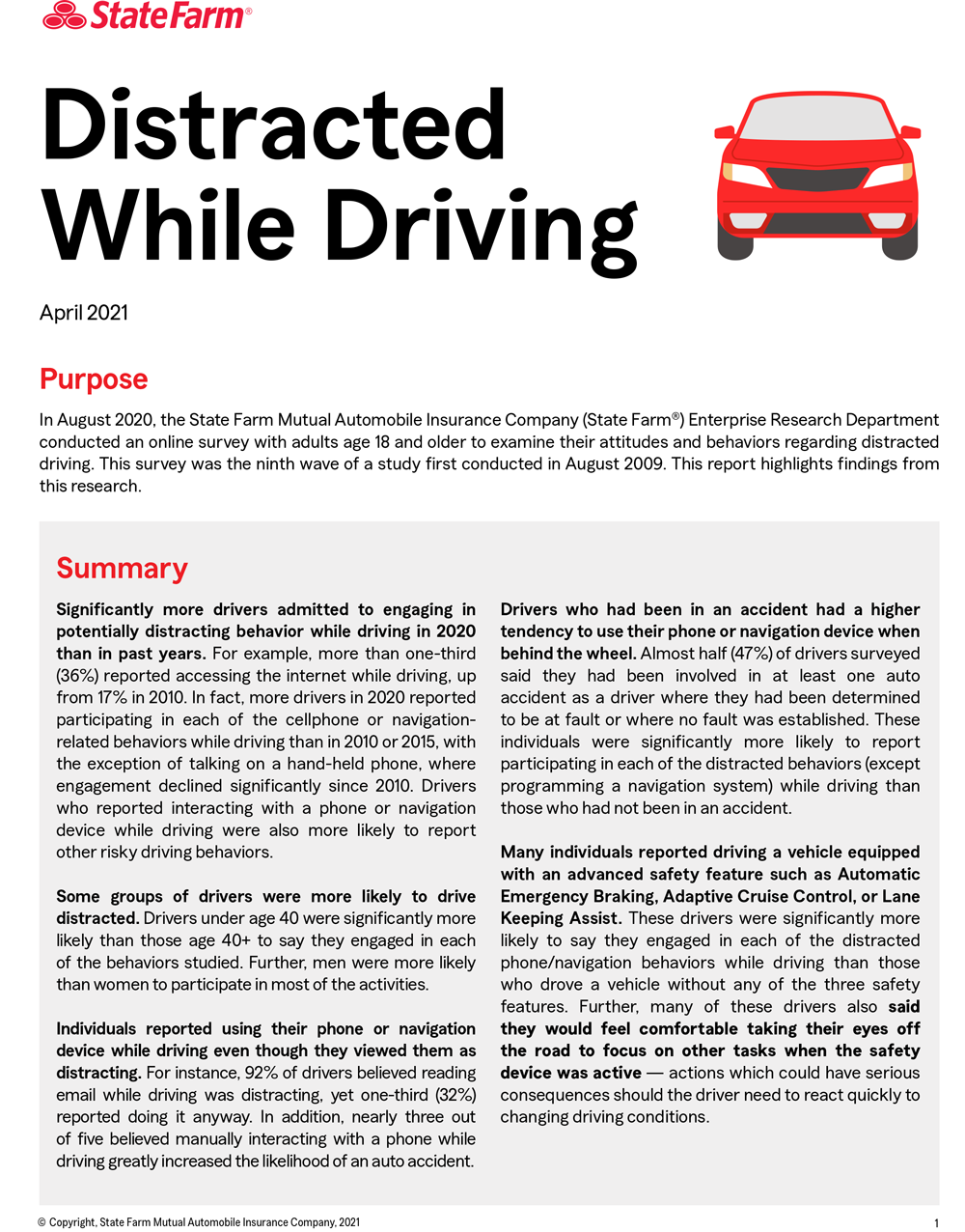 Distracted Driving Report