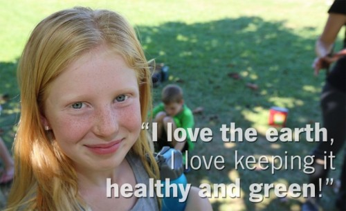 Photo of a girl with the quote: