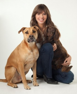 Victoria Stilwell and her dogs