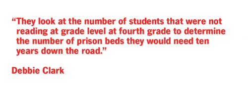 They look at the number of students that were not reading at grade level at fourth grade to determine the number of prison beds they would need number of prison beds they would need ten years down the road.