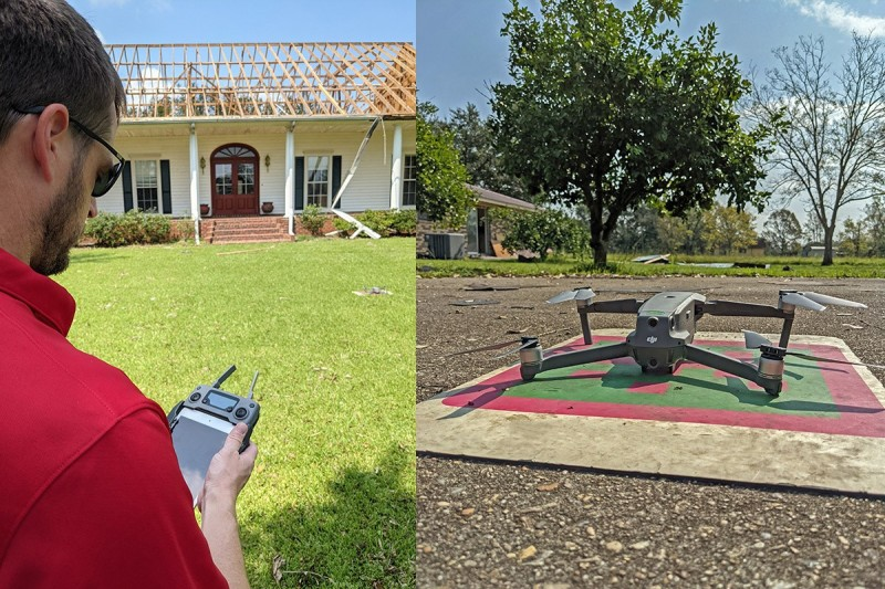 Roof inspection using drone
