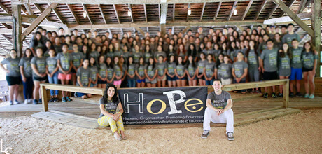 HoPe members at a leadership camp.