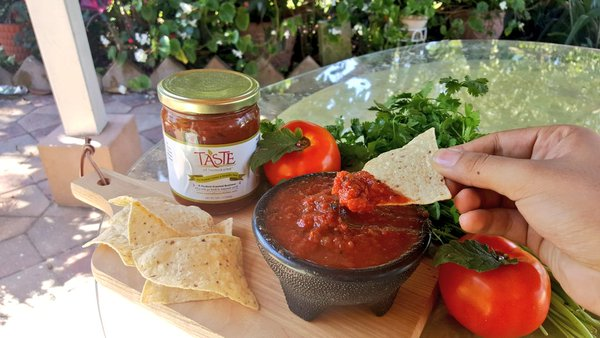 the Taste of Immokalee salsa with chips