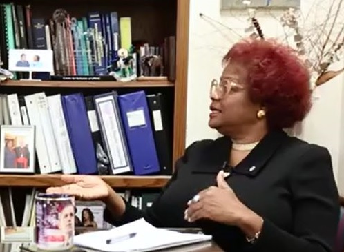 Ms. Esther Bush shares historical insights for the Historical and Cultural Literacy video