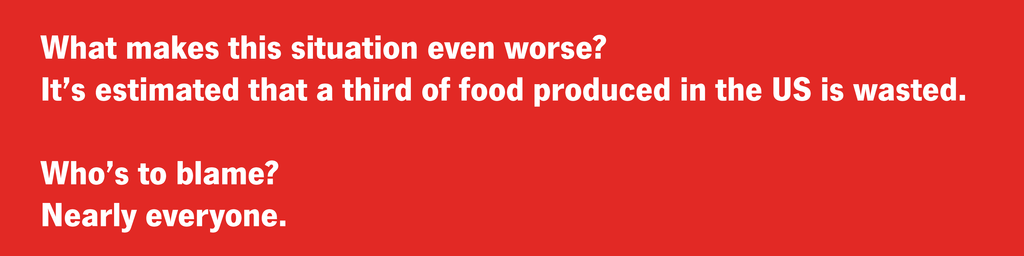 A third of food produced in US is wasted.