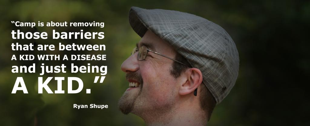 A smiling man with a cap on his head looking into the sky with a the quote: