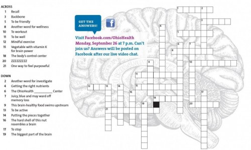 Test your brain power: OhioHealth Brain Booster Puzzle
