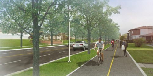 What 37 Avenue will look like after Main Streets work.