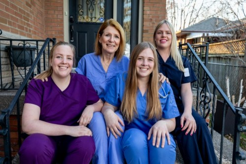 A family of nurses, pictured from left to right, Rachel, Janet (mom), Haley and Samantha Verkaik.