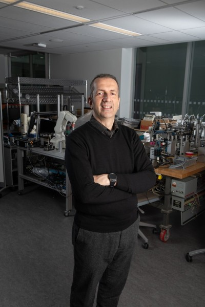 Dr. Esteve Hassan in his lab