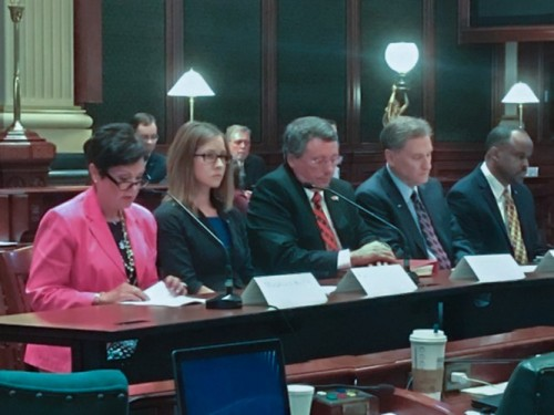 Maureen Kelly testifies before the House in Springfield.