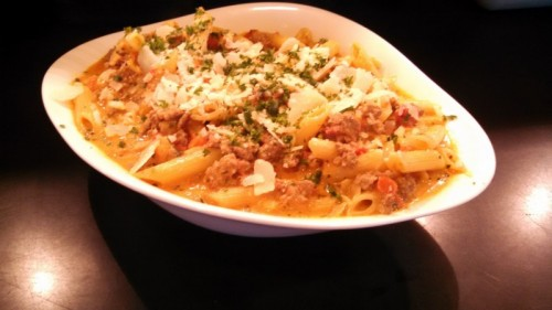 Recipes from Hershey Lodge: Hershey Grill Sweet Italian Sausage Bolognese
