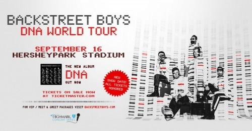 Backstreet Boys Reschedule Hersheypark Stadium Show