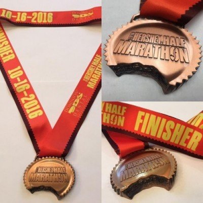 2016 Finisher Medal for Hershey Half