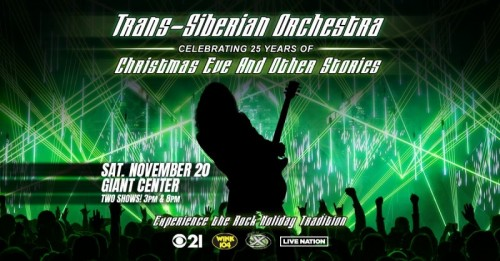 Trans-Siberian Orchestra to Return to GIANT Center in Hershey  Celebrating 25th Anniversary of Christmas Eve and Other Stories