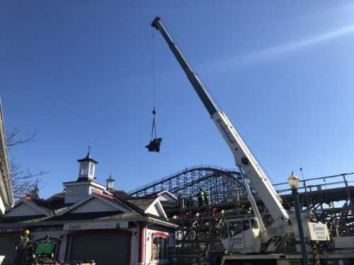 Hersheypark Roller Coaster Cars Craned Back on Tracks