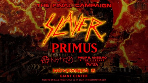 Slayer's Final World Tour to Visit Giant Center