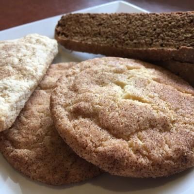 Cinnamon cookies, biscotti and...coffee?