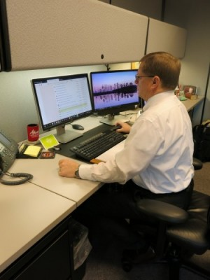 FamilySearch International Chief Genealogical Officer, David Rencher, at work in his Salt Lake City Office.