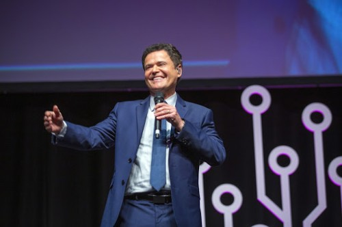 Donny Osmond performs for RootsTech London 2019 crowd while sharing his love of family history.