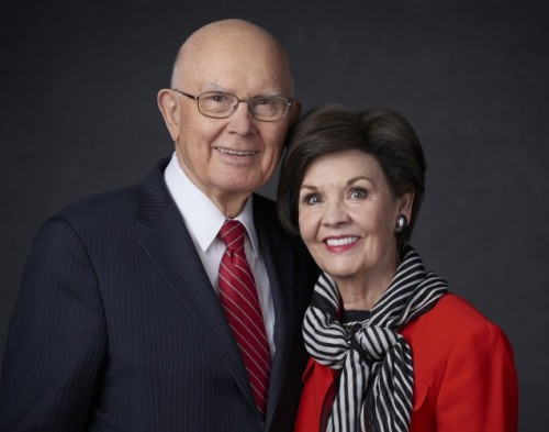 President Dallin H. Oaks and his wife, keynote RootsTech 2018 Family Discovery Day.
