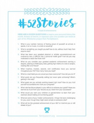 FamilySearch's #52Stories is a great free tool for writing your personal history and life story.