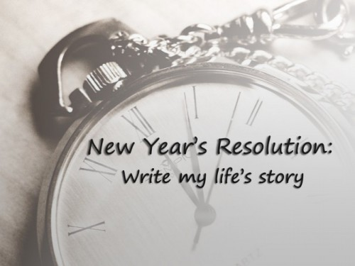 Writing your personal history or life story can be a great New Year's resolution, or lifelong practice.