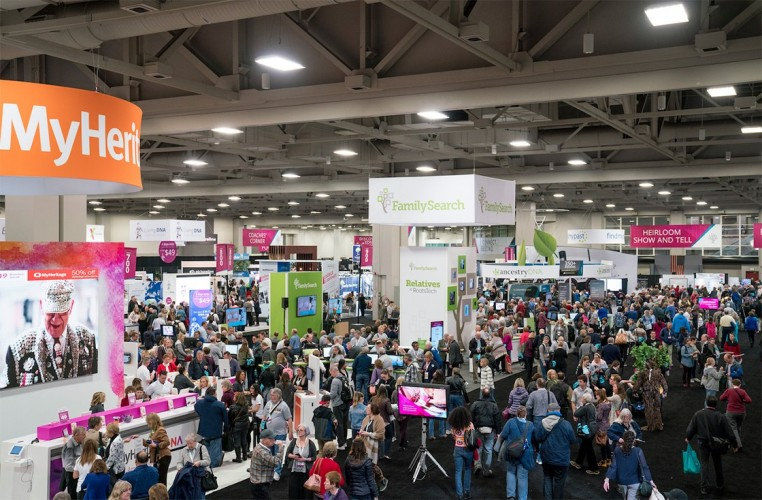 RootsTech Exhibit Hall Floor 2018