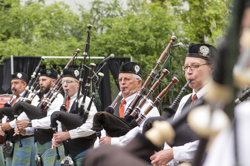 2018 Family History Block Party Scottish Bag Pipes