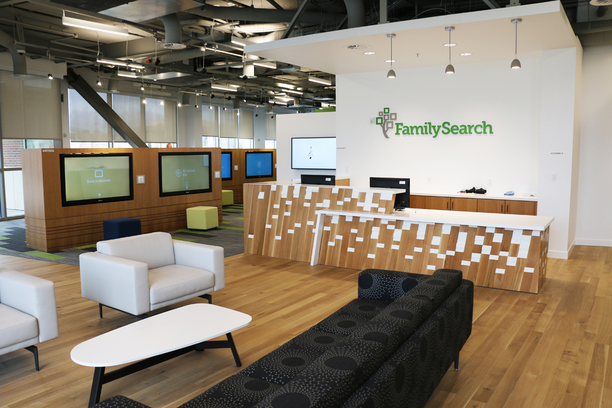 New Lehi FamilySearch Center is free family gathering place offering fun, interactive family history discoveries.