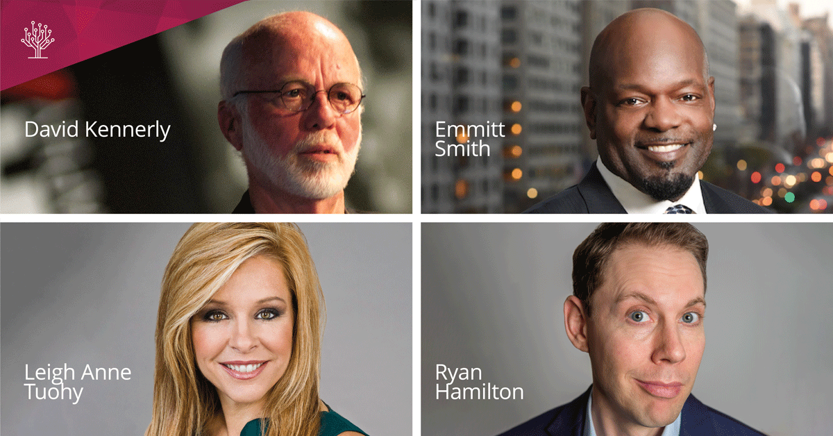 RootsTech 2020 SLC Keynotes and Entertainment David Kennerly, Emmitt Smith, Leigh Anne Tuohy, and Ryan Hamilton.