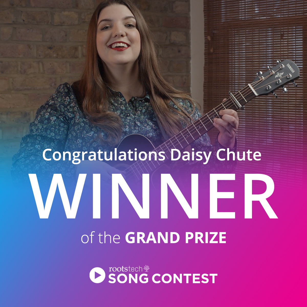 Daisy Chutes, the RootsTech Connect 2021 Kawai Song Contest Grand Prize Winner