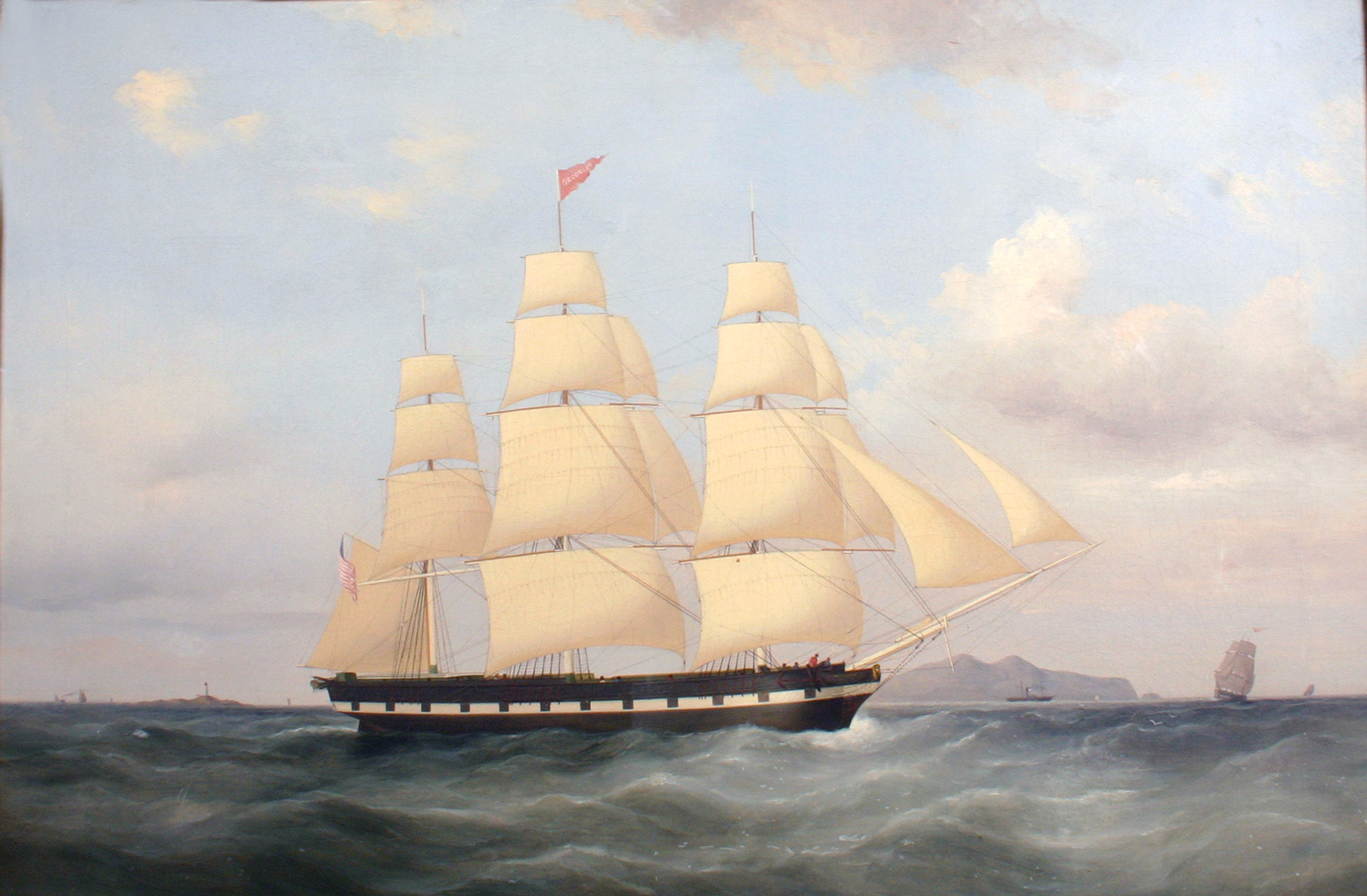 Painting of the Ship Brooklyn by artist Duncan McFarlane had relevant Mormon history.