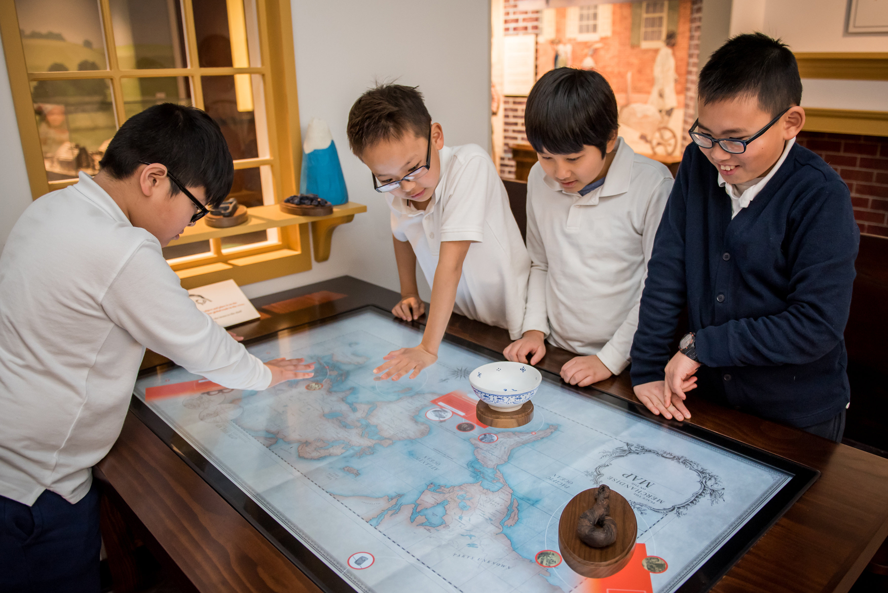 FamilySearch innovation powers interactive table at Museum of the American Revolution